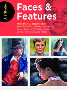 Book, drawing faces and features